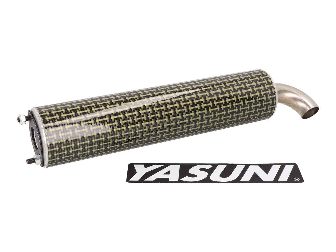 Piaggio Yasuni High-Performance Scooter Exhaust in Aluminum