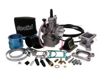 Vintage Vespa Parts Shop - Polini Performance Carburetor kit 30mm incl. intake manifold set for Classic Vespa PX, LML Stella 150, Genuine Scooters Stella 150cc