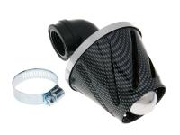 air filter Helix power 28-35mm carburetor connection (adapter) carbon-look