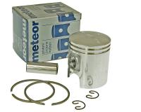 piston kit Meteor 40mm diameter for original cylinder for Peugeot 2-stroke 50cc