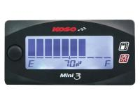 Fuel Gauge KOSO Digital Race Fuel Meter Mini GP Style 3 with white back light KOSO Motorcycle & Scooter Racing Accessories