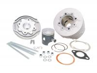 Polini Vintage Vespa Scooter Parts & Classic Vespa Accessories Complete 130cc Cylinder Kit Polini in Aluminum Racing Evolution Series 57mm for Vespa 125 ETS, PK, Primavera 2T, Primavera ET3 2T, Vespa XL Scooters