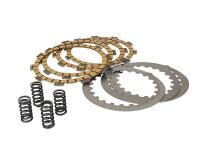 clutch plate set Top Performances aramid fiber heavy duty (4-Discs) for Minarelli AM, Generic, KSR-Moto, Keeway, Motobi, Ride, 1E40MA, 1E40MB