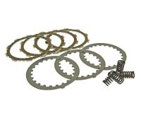 clutch plate / disc set sport, cork and steel plates incl. springs for Minarelli AM, Generic, KSR-Moto, Keeway, Motobi, Ride, 1E40MA, 1E40MB