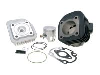 47mm Polini Sport Scooter High-Performance 70cc Cylinder Kit Cast Iron 70cc for Minarelli Horizontal AC Scooters