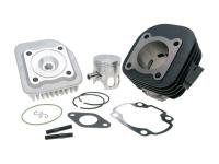 70cc Minarelli Polini High-Performance Sport Cylinder Kit Cast Iron 10mm Obliquely Polini for Minarelli Horizontal AC Engine Scooters