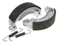 brake shoe set Polini 110x25mm w/ springs for drum brake for MBK Booster, Yamaha BWs