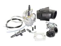 carburetor kit Polini 21mm for Aprilia, Derbi, Gilera, Italjet, Piaggio, Vespa 50cc 2-stroke