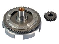 primary transmission gear up kit with clutch basket Polini 22/63 for Vespa PK, Special, XL 75, 100
