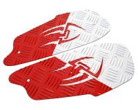 foot plates Opticparts DF Style 16 white / red aluminium for Gilera Runner (-08/05)