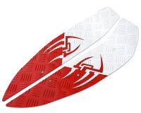 foot plates Opticparts DF Style 16 white / red aluminium for Aerox, Nitro