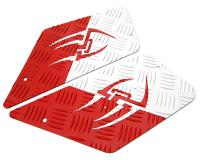 foot plates Opticparts DF Style 16 white / red aluminium for CPI, Keeway