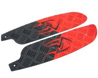 foot plates Opticparts DF Style 16 red / black aluminium for Jetforce