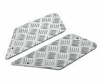 foot plates Opticparts DF checkered aluminium for CPI, Keeway