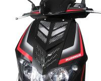 front cover Opticparts DF 2-part black for Gilera Runner (08/05-)