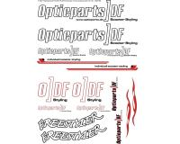 sticker set Opticparts DF DIN-A3 - universal