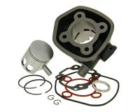 Minarelli Italkit High-Performance Big Bore Cylinder Kit Italkit Sport 70cc 10mm piston pin for Minarelli Horizontal LC Aprilia SR50 LC, Malaguti F12 Phantom LC, Malaguti F15 Firefox LC, Italjet Dragster 50LC Minarelli Scooters