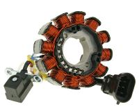 alternator stator for vehicles with Piaggio injection