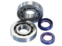 Piaggio Polini HQ Replacement Crankshaft Complete Bearing Set Polini for Piaggio, Vespa, Gilera, Aprilia, Derbi Engines