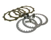 clutch plate / disc replacement kit Top Performances for Minarelli AM, Generic, KSR-Moto, Keeway, Motobi, Ride, 1E40MA, 1E40MB