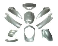 QMB139 Fairing Parts and Body Plastics in Silver for Baotian BT49QT-9 GY6 50cc, 139QMB Chinese Scooter Body Parts