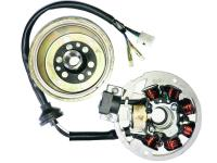 Parts For Benelli Scooters - OEM Replacement Alternator and 7 Coil Magneto Complete Scooter Electrical Assembly for QJ50QT-2 Benelli QJ50QT-29A, Adnretti, 34300G02F000 Scooters