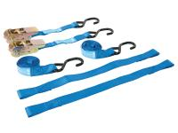 motorbike tie-down set 25mm with hooks - 2 pieces incl. securing loops