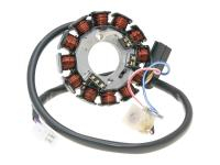 AM6 Minarelli SuperMotard Enduro Replacement Alternator Stator 12-pole for Minarelli AM6 Power Up (Moric) Beta RR50, Malaguti XTM, Rieju, Yamaha DT50 by 101 Octane Replacement Parts