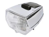 Puch Parts For Mopeds - Headlight Square in Chrome for Puch Maxi N, Europa