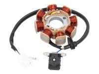 alternator stator for 50cc GY6 Euro4, Peugeot, SYM 4-stroke w/ injection