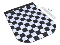 mudguard mud flap w/ checkered flag design