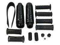 frame, gearshift, kick starter, handlebar, front fork rubber parts set 14-piece for Simson S50, S51, S70