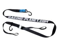 Online Motorcycle & Scooter Parts Shop - 35mm Universal Moto Tie down strap set Racing Planet w/ hooks - 2 pieces Everyday Essential Items
