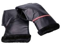 Moto Rider Accessories Cold Weather Bike Mitts - Bar Mitts Handlebar Muffs MKX imitation leather in black