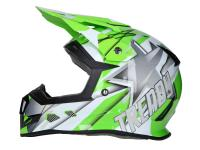 Shop Dirt Bike & Motocross Helmets - Helmet Motocross Trendy T-902 Dreamstar white / green - different sizes