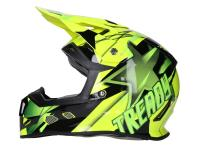 Dirt Bike & Motocross Helmets - Helmet Motocross Trendy T-902 Dreamstar black / yellow - different sizes