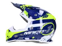 Shop Dirt Bike Helmets & Motocross Helmets - Motocross Trendy T-902 Mach-1 blue / yellow - different sizes