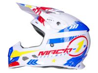 Shop Off-Road Dirt Bike Helmets & Motocross Helmets - Helmet Motocross Trendy T-902 Mach-1 white / blue / red - different sizes