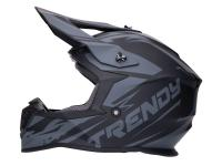 helmet Motocross Trendy T-903 Leaper matt black / grey - different sizes
