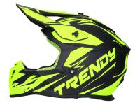 helmet Motocross Trendy T-903 Leaper matt black / fluo yellow - different sizes