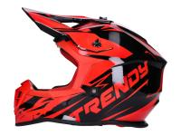 helmet Motocross Trendy T-903 Leaper black / red - different sizes