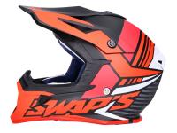 helmet Motocross SWAPS S818 matt black / red - different sizes