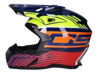 helmet Motocross OSONE S820 blue / yellow / orange / red - different sizes