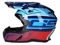 helmet Motocross OSONE S820 black / blue / red - different sizes