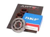 Vespa ARTEK Race-Grade Scooter Crankshaft Bearing Set ARTEK K1 Racing High-Performance SKF Polyamide for Aprilia, Derbi, Vespa Scooters