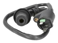 ignition coil with spark plug cap