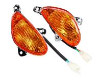 China 50cc Scooter Lights - Replacement Indicator light set front, orange for BT49QT-9, SunL, Roketa, Tank, Sunny, Baotian BT50QT-9, Benzhou City Star Scooters