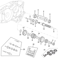 Shop Original Minarelli Engine & Transmission Parts - Minarelli Main Shaft Diagram Minarelli AM6 2. Motorbike Engines Series