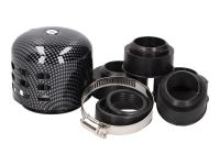 Scooter Racing Air Filter Power Aluminum Cap Shield 28-44mm Carb Connection Carbon Style Look by 101 Octane Spare Parts