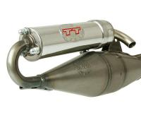 LeoVince Hand-Made TT Scooter Exhaust for Zuma 50 02-11, 2T Yamaha Minarelli Horizontal Air Cooled Engines